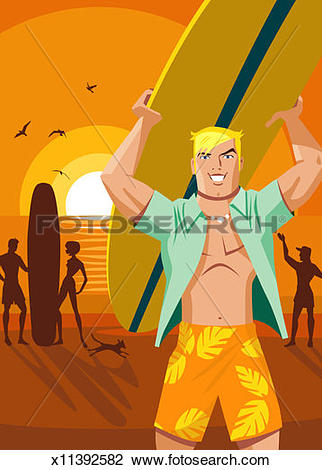 Surfboard on head clipart image library stock Stock Photo of Man carrying surfboard above head on beach ... image library stock