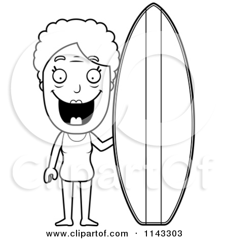 Surfboard outline clip art graphic library Royalty-Free (RF) Surfing Granny Clipart, Illustrations, Vector ... graphic library