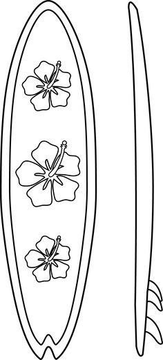 Surfboard outline clip art vector black and white library surf board coloring pages | Surfboards Coloring Page | applique ... vector black and white library