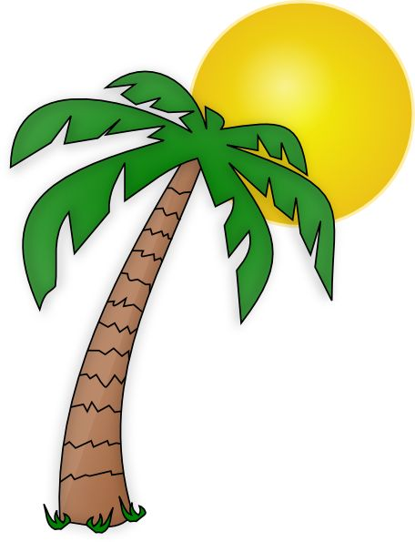 Surfboard palm tree clipart clip art library Palm trees and surfboard transparent background clipart - ClipartFest clip art library