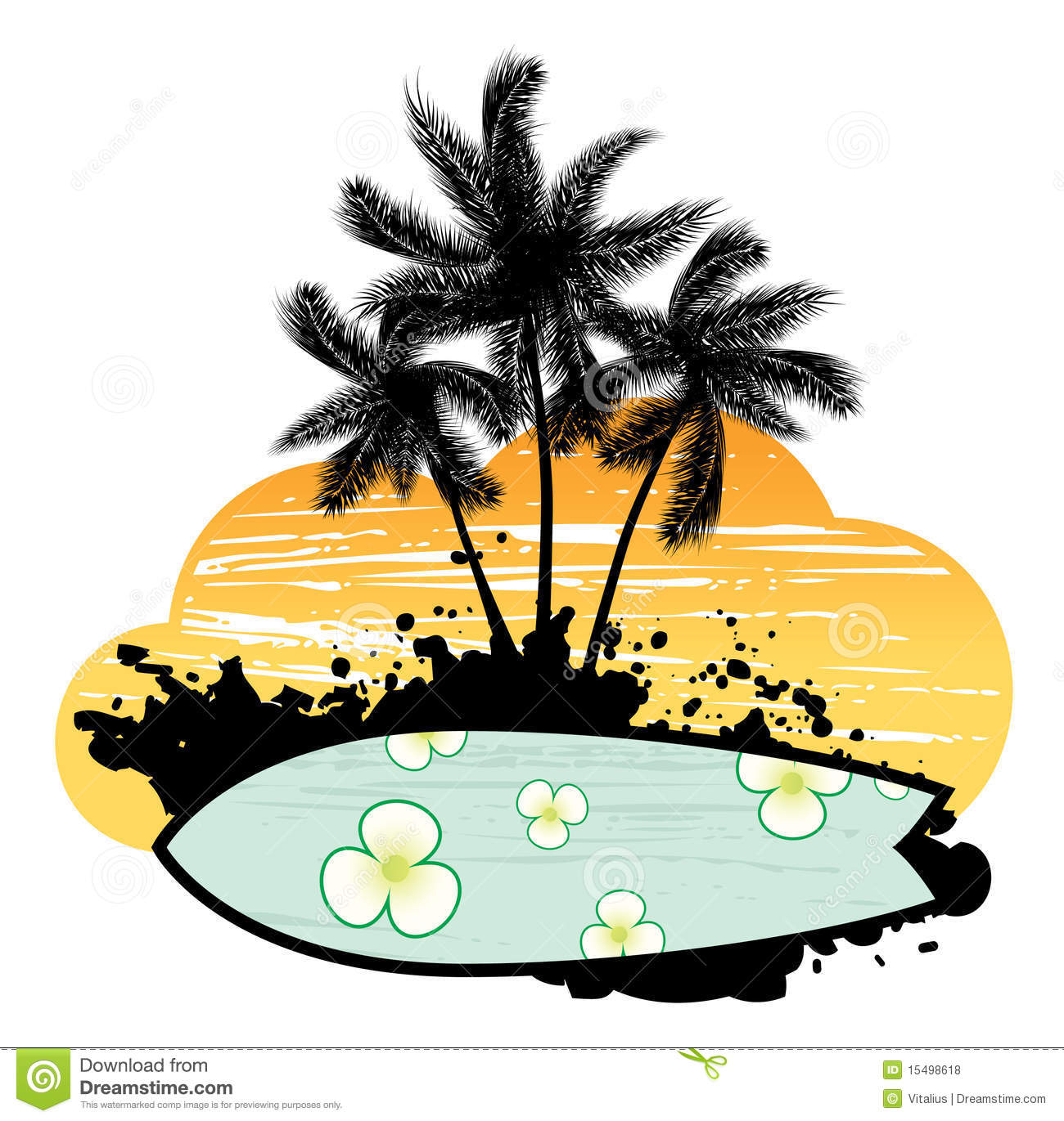 Surfboard palm tree clipart svg transparent download Abstract With Palm Trees And Surfboard Royalty Free Stock Photos ... svg transparent download