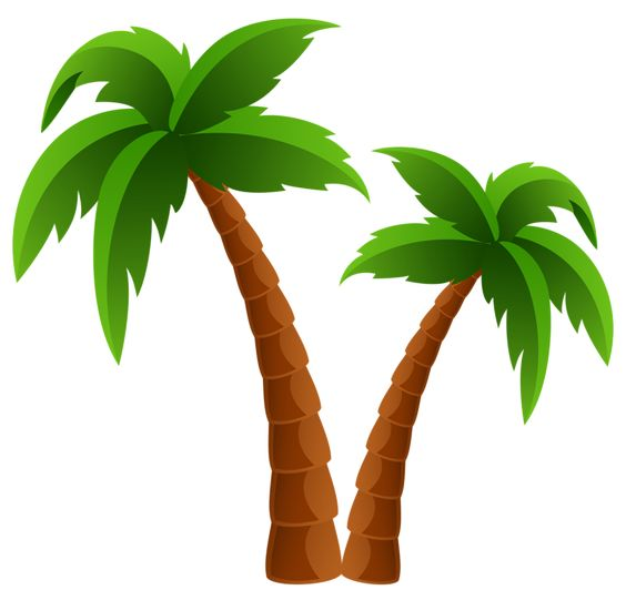 Surfboard palm tree clipart svg royalty free Two Palm Trees PNG Clipart Image | Summer clip | Pinterest | Trees ... svg royalty free