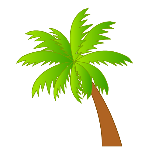 Surfboard palm tree clipart image transparent stock Palm trees and surfboard transparent background clipart - ClipartFest image transparent stock