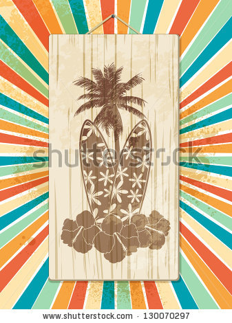 Surfboard signs background clipart png freeuse download Surfboard Set Tropical Designs Stock Vector 74876941 - Shutterstock png freeuse download