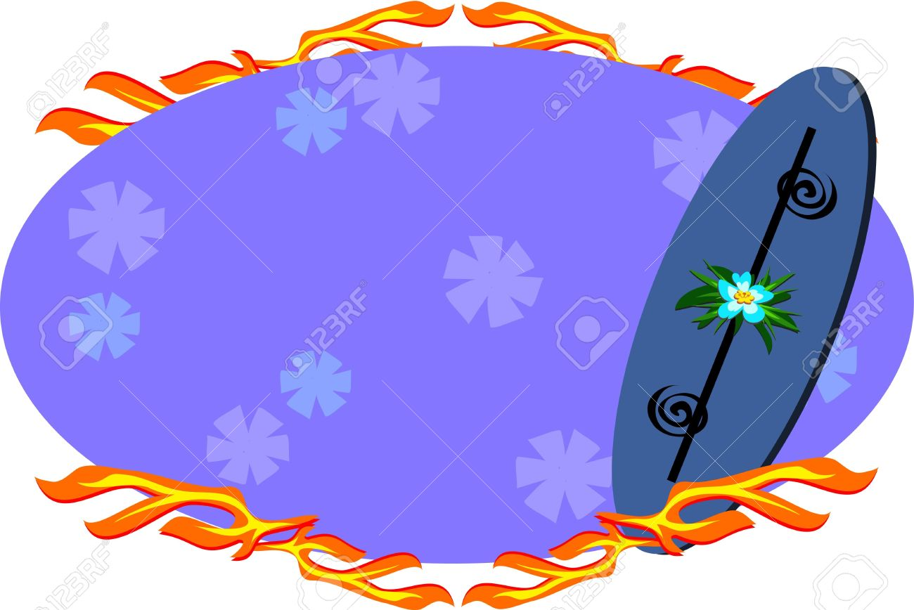 Surfboard signs background clipart svg transparent stock Surfboard Sign With Flames Royalty Free Cliparts, Vectors, And ... svg transparent stock