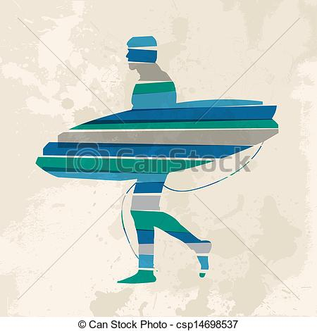 Surfboard transparent background clipart clip free stock Vectors of Vintage multicolor go surfing - Diversity colors ... clip free stock
