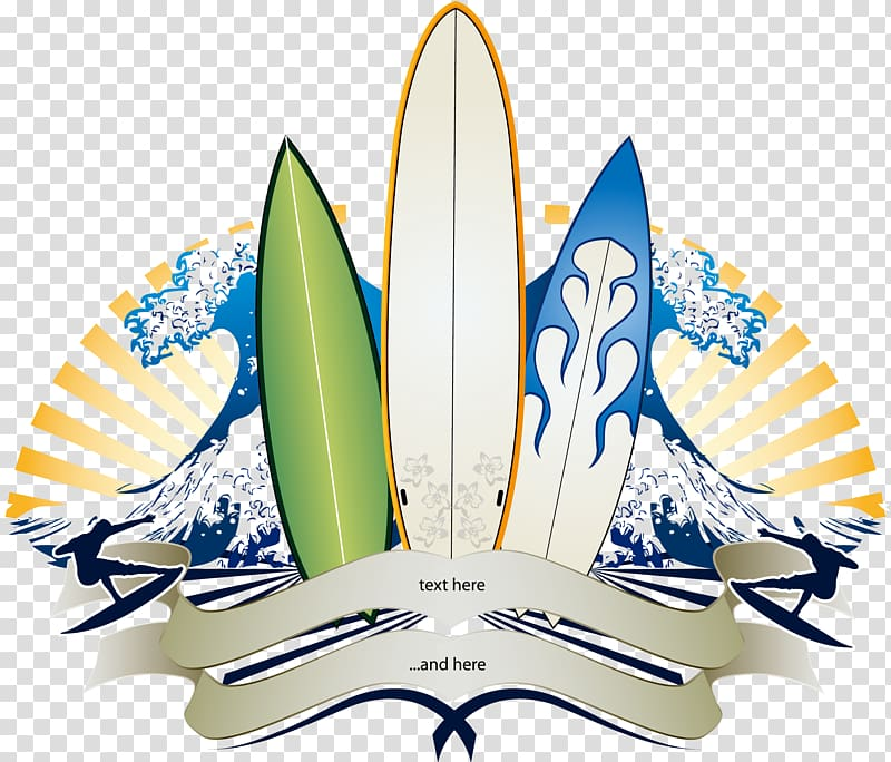 Surfer border clipart freeuse download Big wave surfing Banner Surfboard, Trend pattern wave ... freeuse download