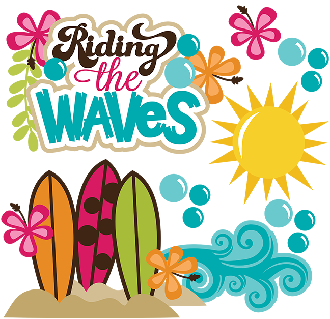 Surfer border clipart png black and white library Riding The Waves SVG beach svg files ocean svg file ... png black and white library