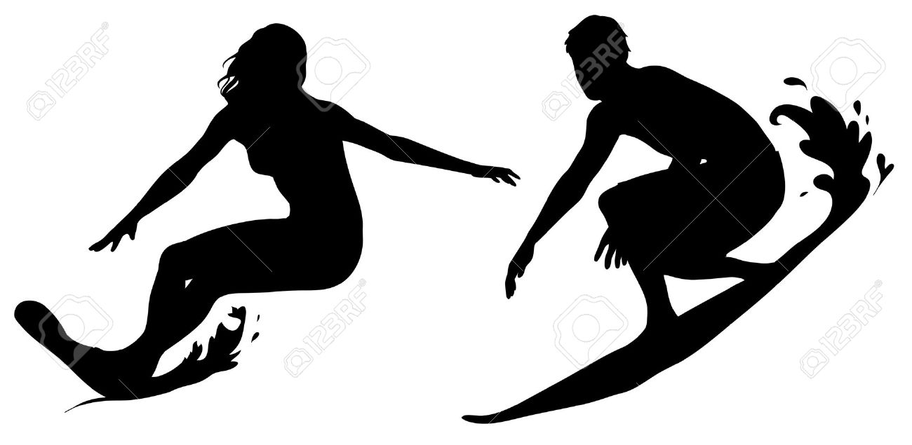 Surfing clipart black and white vector library download Surf Clipart Free | Free download best Surf Clipart Free on ... vector library download