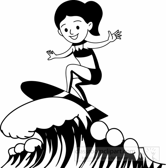 Surfing clipart black and white png royalty free Free Surfer Clipart Black And White, Download Free Clip Art ... png royalty free