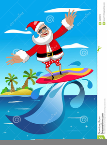 Surfing santa clipart clip download Santa Claus Surfing Clipart | Free Images at Clker.com ... clip download