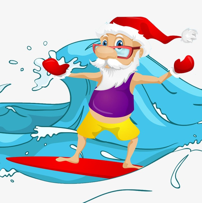 Surfing santa clipart picture royalty free Surf Santa Png Free & Free Surf Santa.png Transparent Images ... picture royalty free