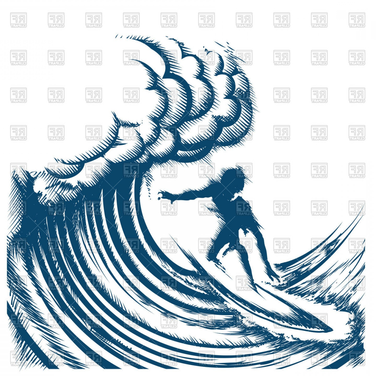 Surfing wave clipart picture royalty free stock Surfer Riding A Big Wave Engraving Style Surf Riding Image ... picture royalty free stock