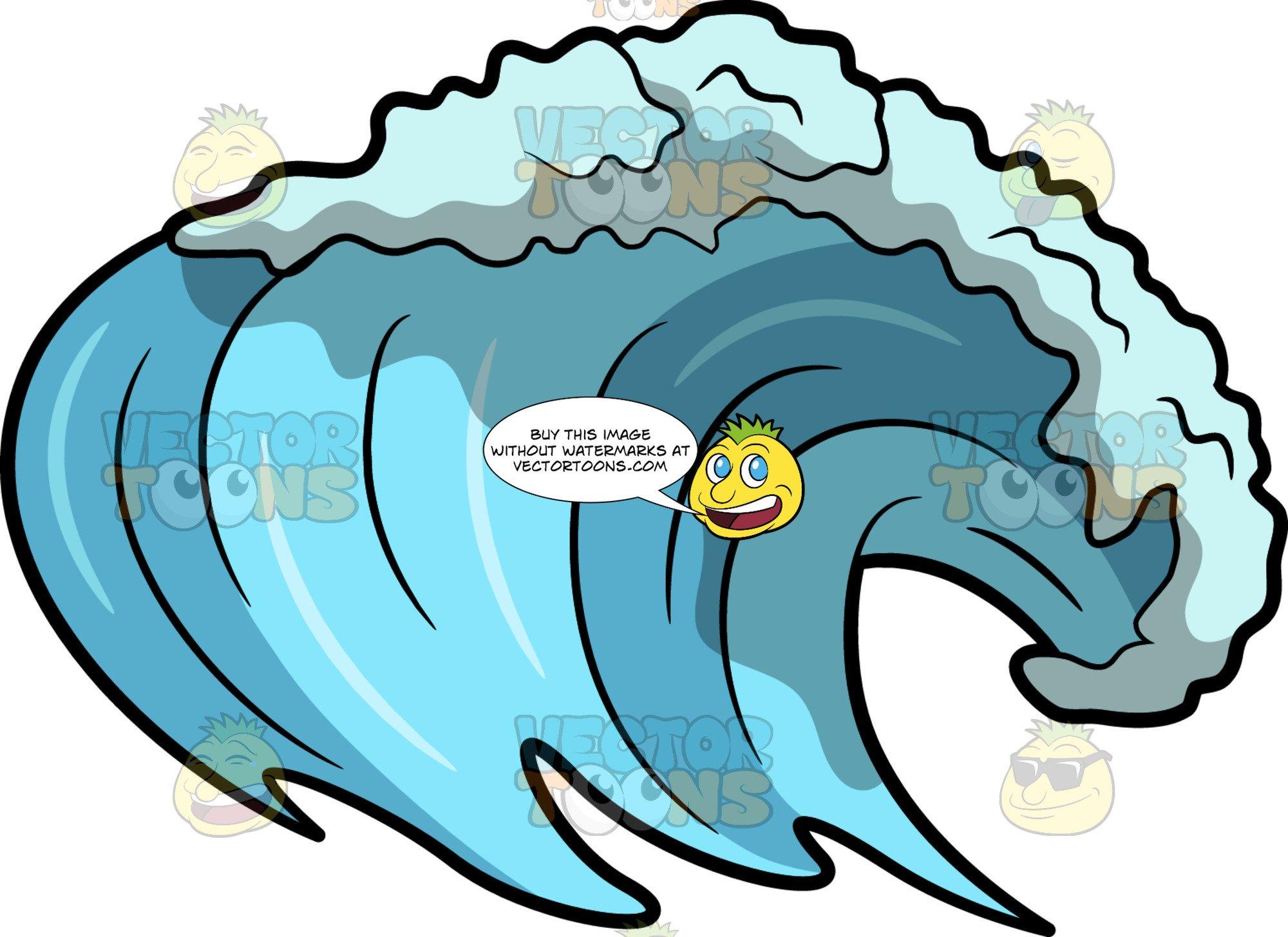 Surfing wave clipart transparent An Ocean Surf Wave transparent