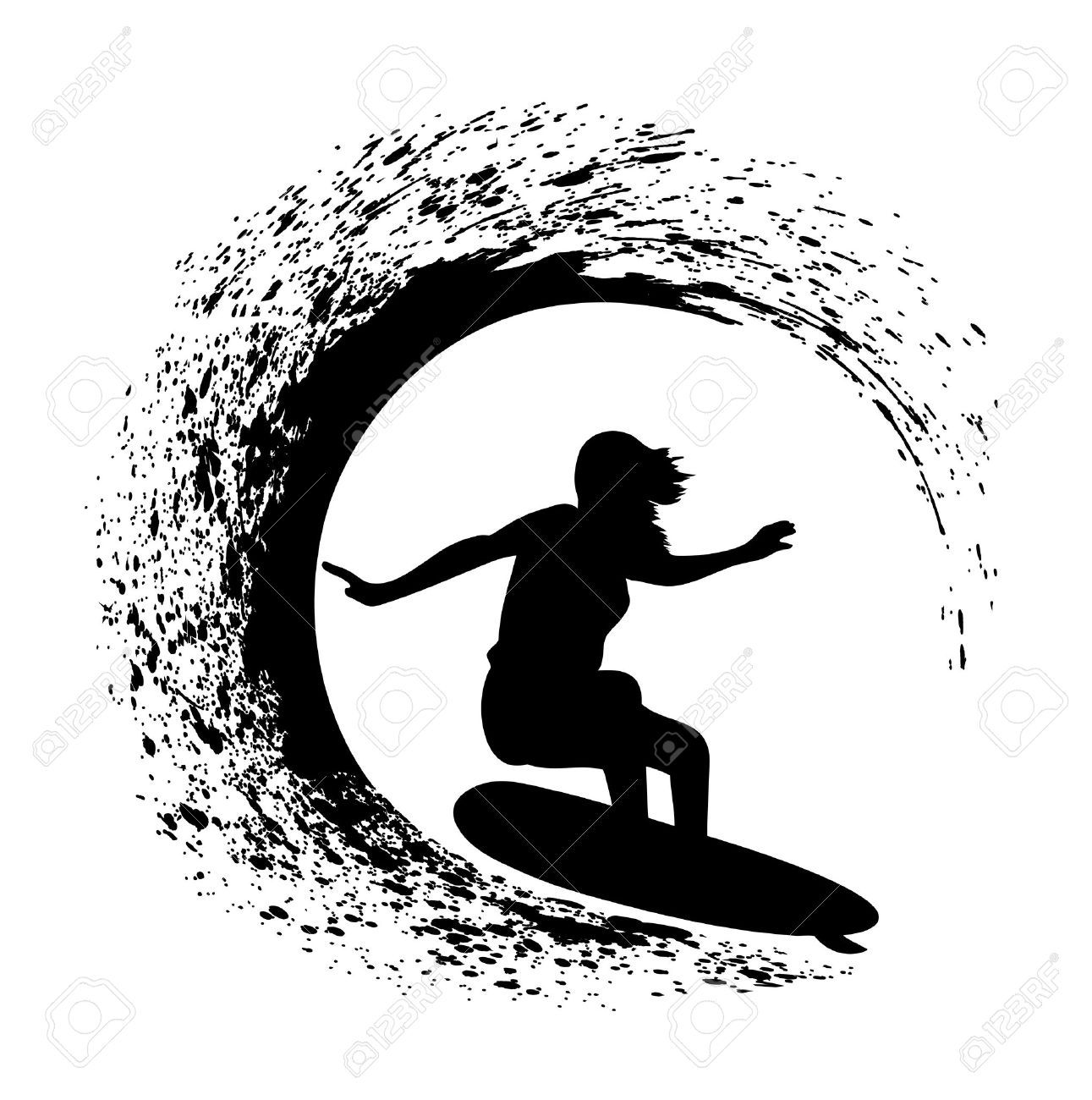 Surfing wave clipart clip library Surfing wave clipart 4 » Clipart Portal clip library