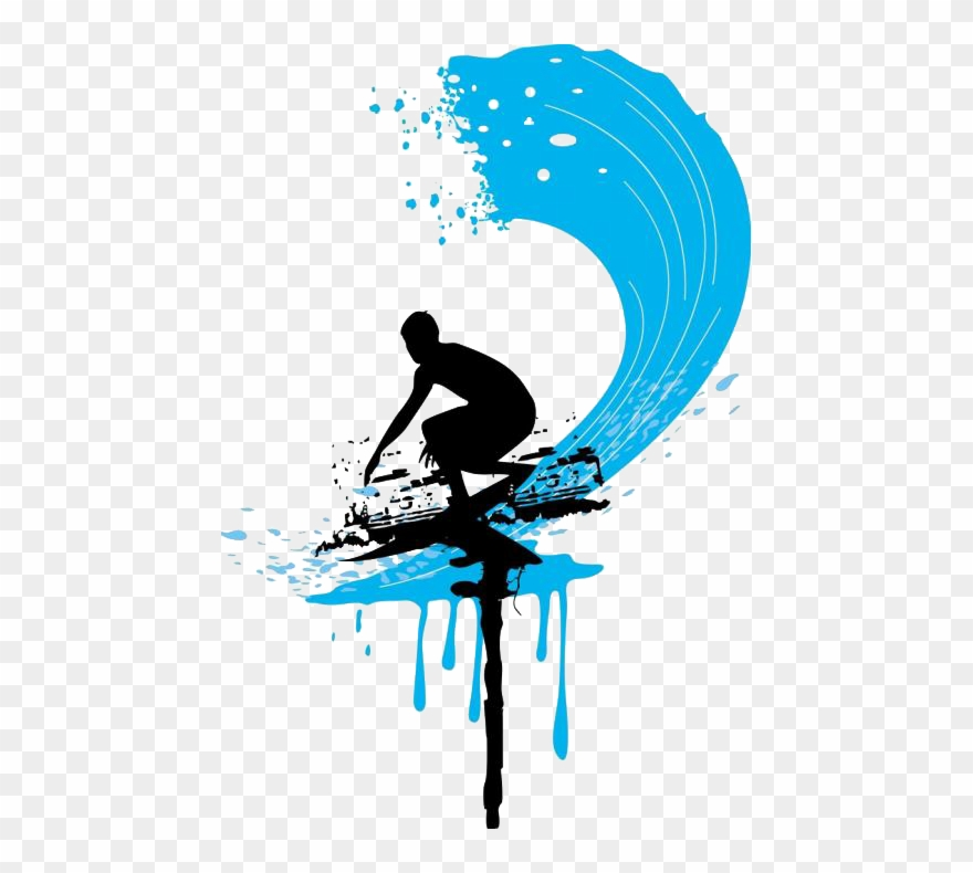 Surfing wave clipart banner transparent download Banner Free Clipart Surfing - Water Pump,wave Maker Wave ... banner transparent download