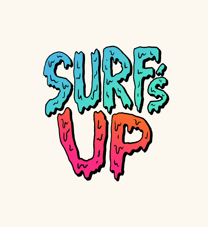 Surf-s up clipart