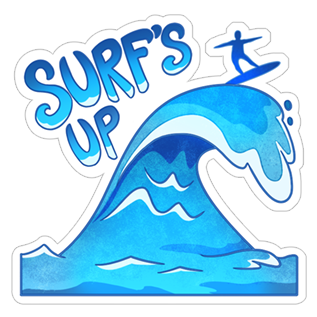 Surf-s up clipart picture black and white stock Surf Up.PNG picture black and white stock