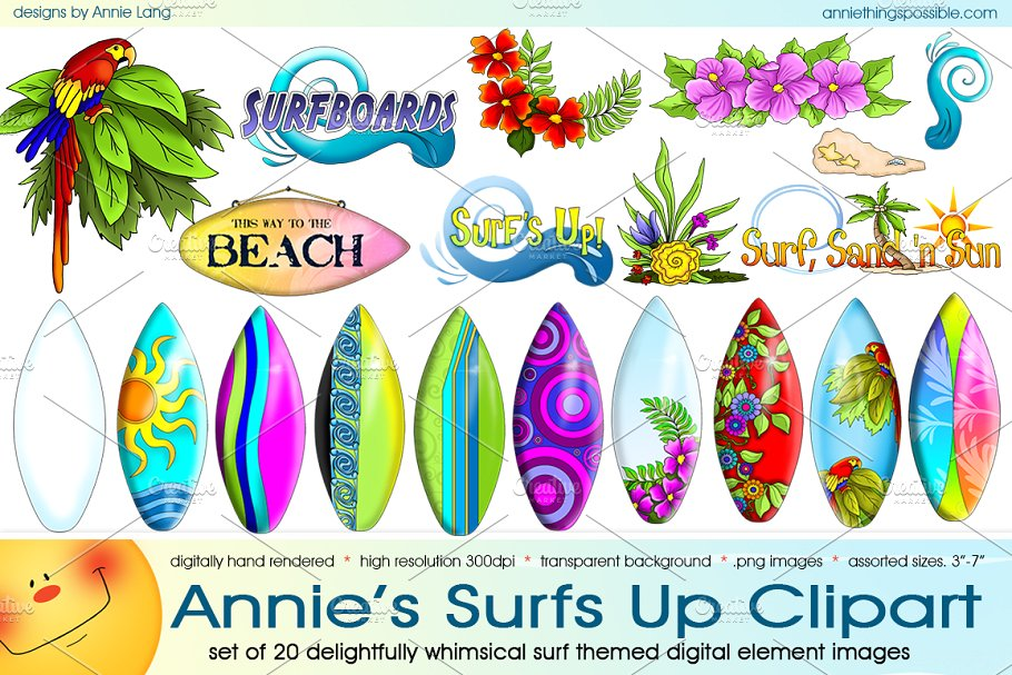 Surf-s up clipart graphic royalty free stock Annie\'s Surfs Up Clipart graphic royalty free stock