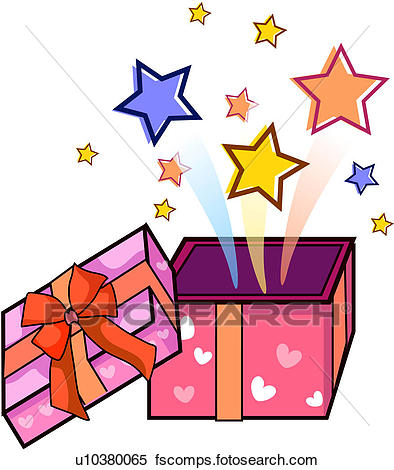 Surprises clipart vector freeuse stock Open Present Clipart | Free download best Open Present ... vector freeuse stock