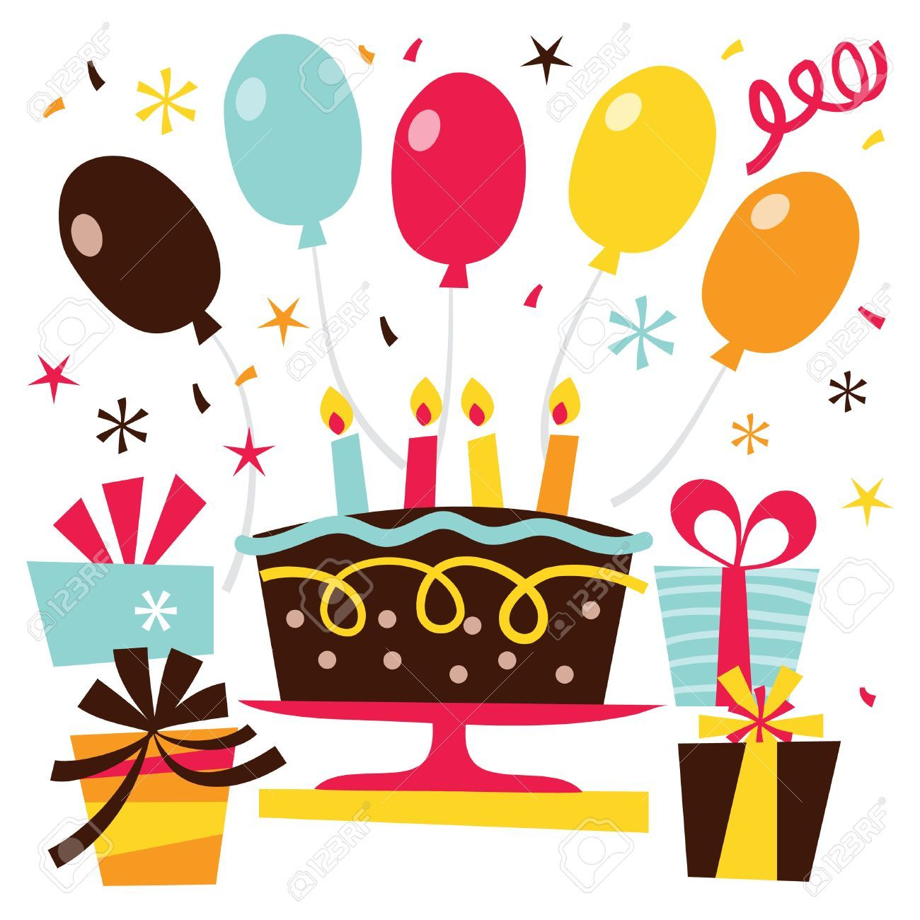 Surprise birthday pictures clipart clip black and white library Clipart surprise birthday party 5 » Clipart Portal clip black and white library