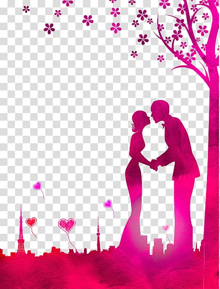 Surrounded by god s love clipart with transparent background image black and white stock Silhouette of couple kissing under tree , Love Kiss ... image black and white stock