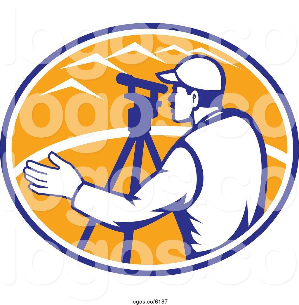 Surveyor clipart equipment total station transparent stock Royalty Free Clip Art Vector Logo of a Surveyor Engineer ... transparent stock