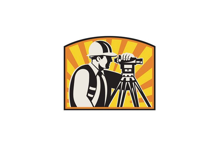 Surveyor clipart equipment total station clipart library library Surveyor Engineer Theodolite Total Station Retro clipart library library