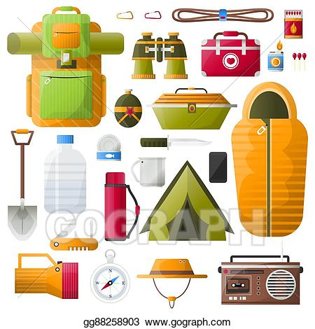 Survival items clipart vector royalty free library Vector Art - Vector kit items for survival. EPS clipart ... vector royalty free library