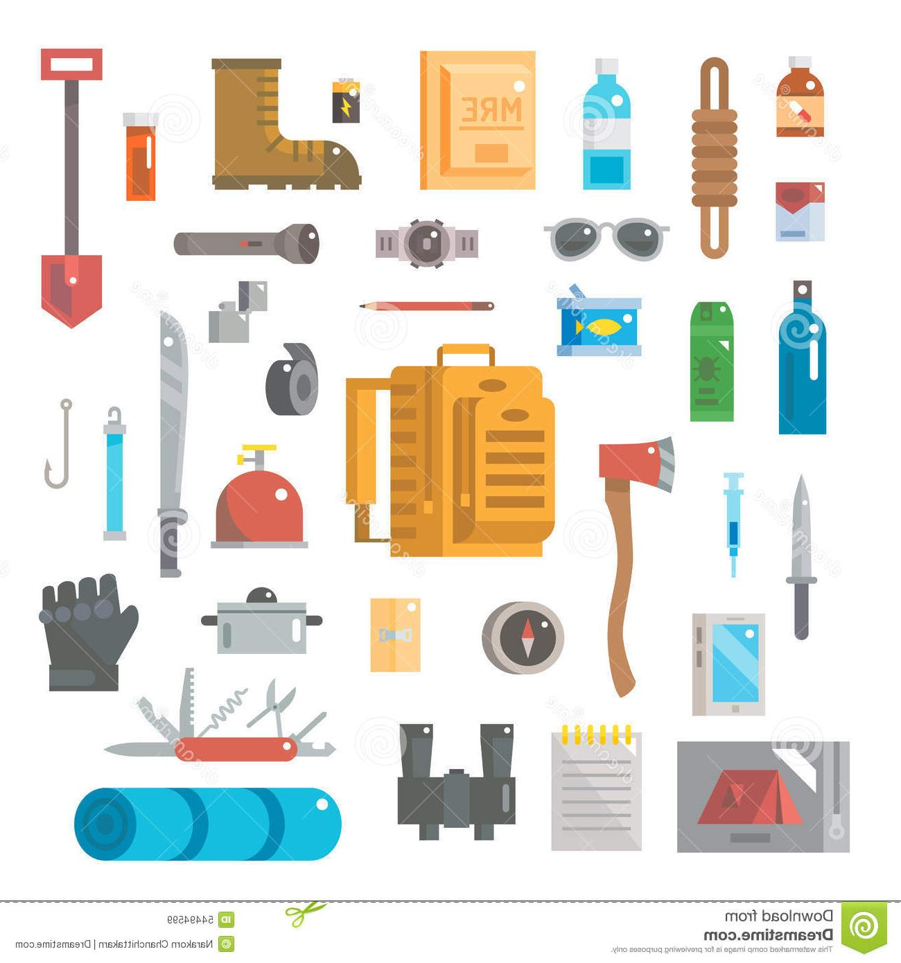 Survival items clipart image download HD Survival Gear Vector Images » Free Vector Art, Images ... image download