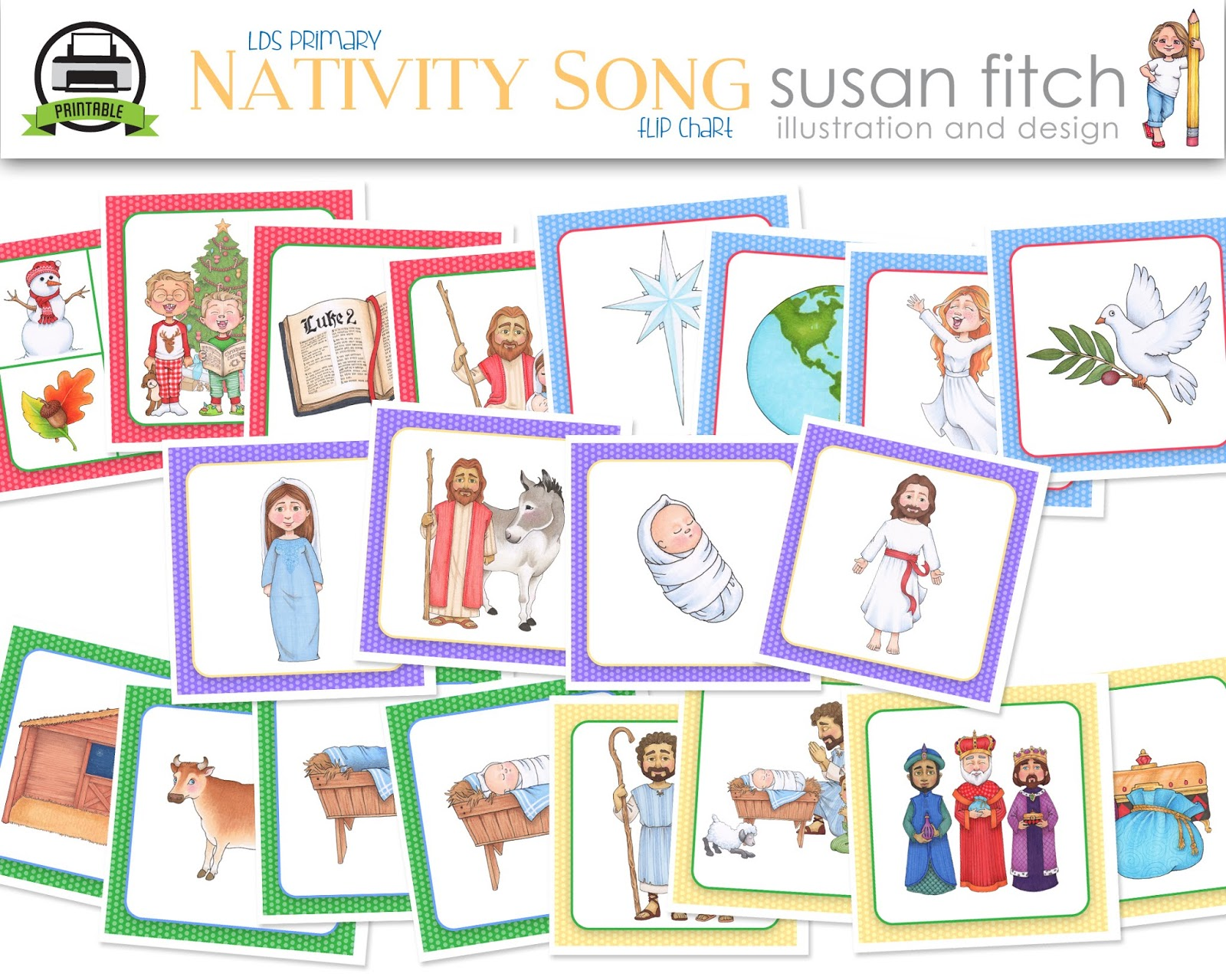 Susan fitch clipart opening song black and white download Camille\'s Primary Ideas: The Nativity Song with NEW Susan ... black and white download