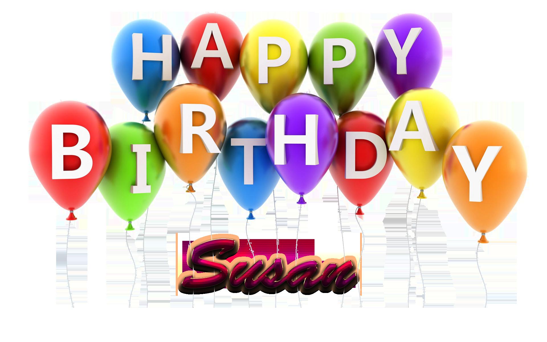 Susan name clipart clip freeuse stock Susan Happy Birthday Balloons Name PNG clip freeuse stock