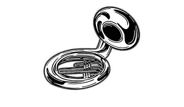 Susaphone clipart graphic download Amazon.com: Yetta Quiller Tuba Marching Band Musical ... graphic download