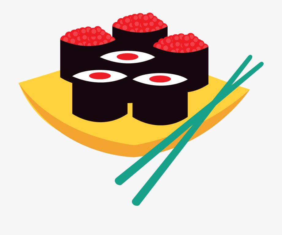 Sushi cake clipart png black and white download Cuisine Sushi Japanese Cartoon Free Hq Image Clipart ... png black and white download