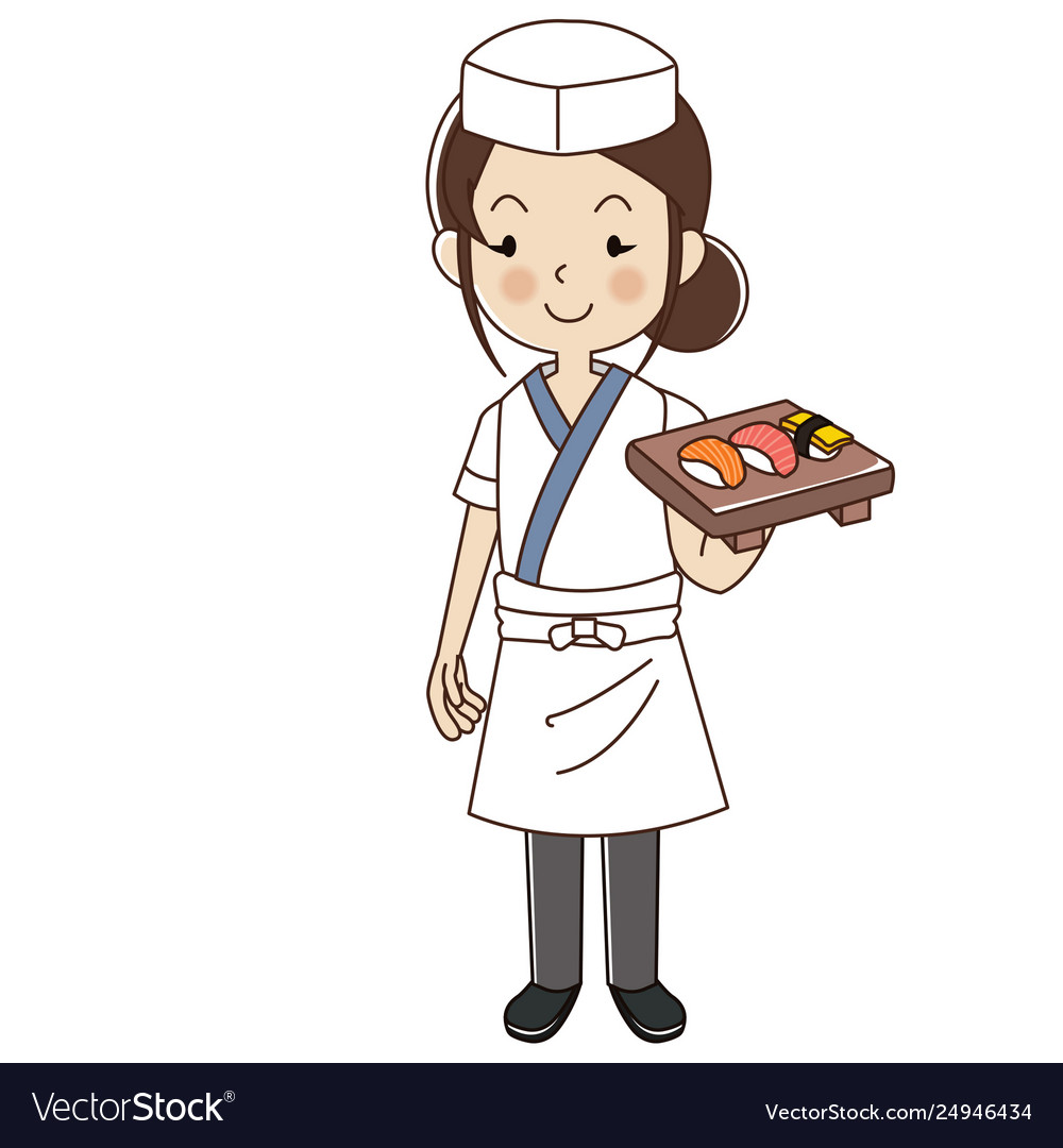 Sushi chef clipart freeuse Woman sushi chefjapanese sushi chef freeuse