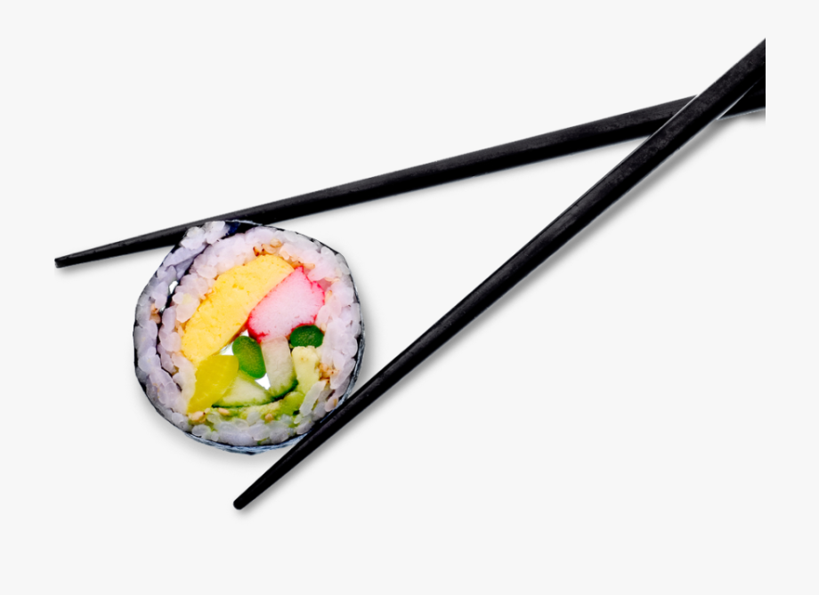 Sushi roll clipart with chopsticks graphic black and white Japanese Cuisine Hertford - Sushi With Chopsticks Png ... graphic black and white