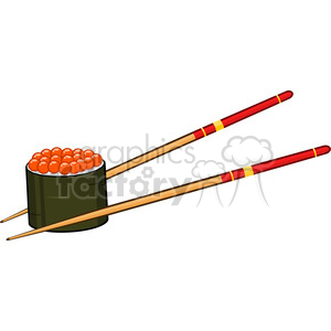 Sushi roll clipart with chopsticks vector royalty free stock illustration sushi roll with caviar and chopsticks vector illustration  isolated on white clipart. Royalty-free clipart # 399494 vector royalty free stock