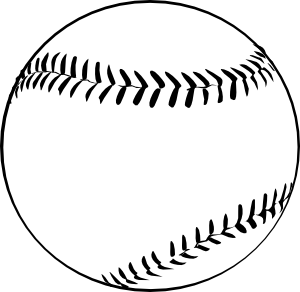 Svg baseball clipart black and white free clip transparent library Baseball (b And W) Clip Art at Clker.com - vector clip art ... clip transparent library