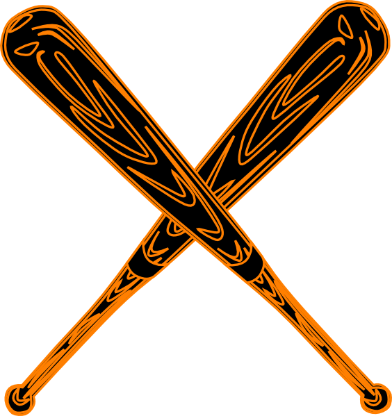 Baseball clipart vector graphic royalty free Baseball Bat Svg Clip Art at Clker.com - vector clip art online ... graphic royalty free