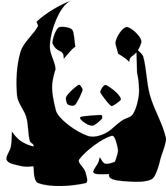 Clipart panda silhouette turkey svg black and white download Giant Panda svg | Clipart Panda - Free Clipart Images svg black and white download