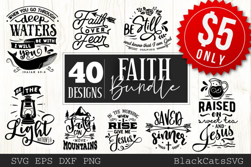 Svg clipart cut files jpg freeuse download Faith Bundle 40 SVG files Cutting File Clipart in Svg, Eps, Dxf, Png for  Cricut & Silhouette jpg freeuse download