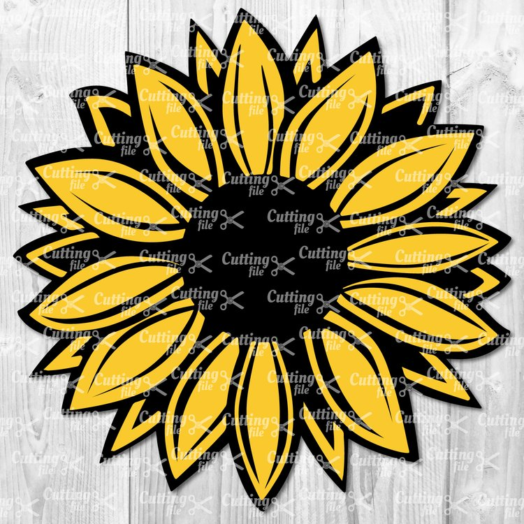 Svg clipart cut files svg free library Sunflower SVG - Flower SVG - Sunflower Clipart svg free library