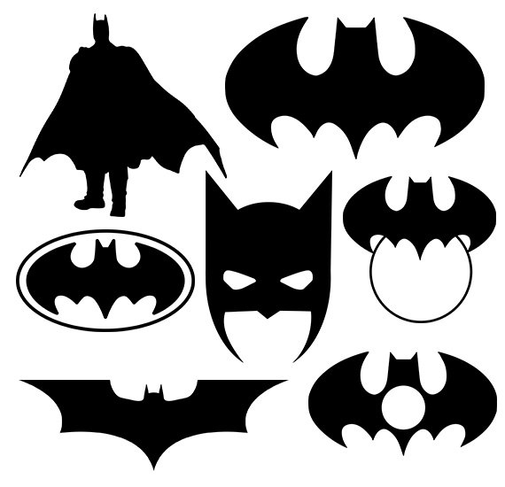 Svg clipart gallery jpg library library Batman svg silhouette pack - Batman clipart digital download ... jpg library library
