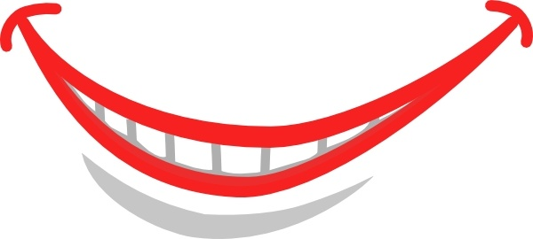 Svg clipart mouth png black and white stock Smile Mouth Teeth clip art Free vector in Open office drawing svg ... png black and white stock