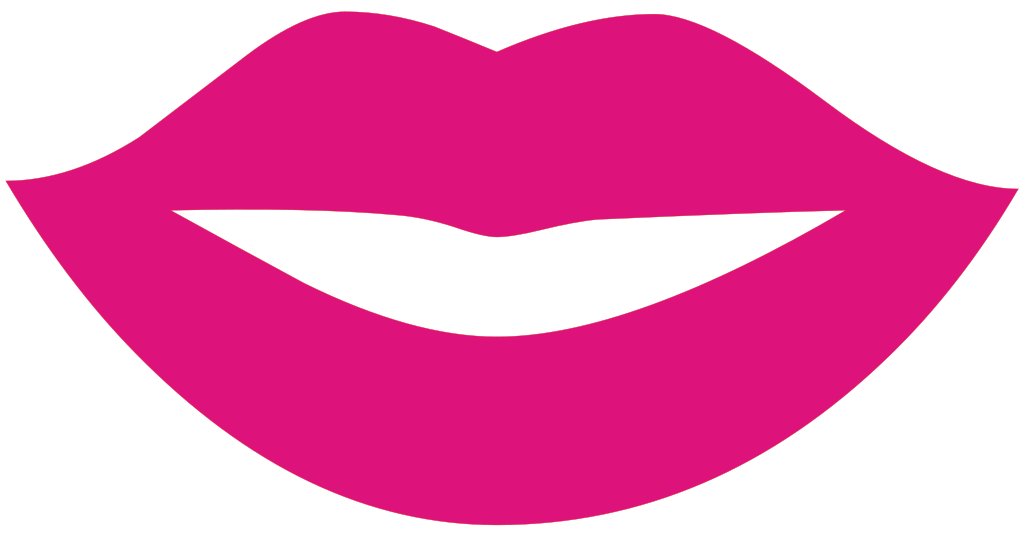 Svg clipart mouth png free library File:Lips Silhouette.svg - Wikimedia Commons png free library