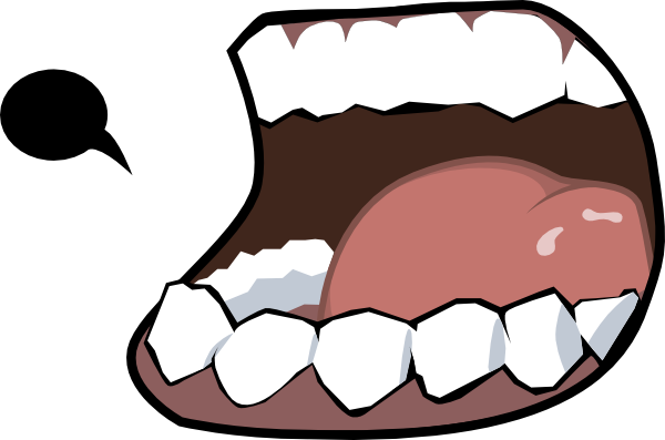 Svg clipart mouth vector black and white Merzok Dark Mouth Clip Art at Clker.com - vector clip art online ... vector black and white