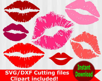 Svg clipart mouth royalty free download Lips clipart | Etsy royalty free download