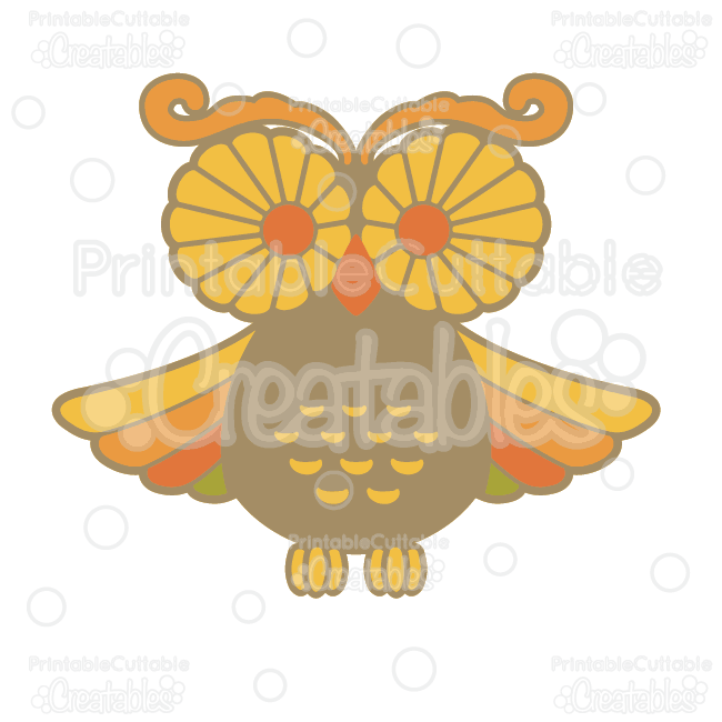 Svg cutting license for clipart svg royalty free download Autumn Owl SVG Cutting File & Clipart svg royalty free download