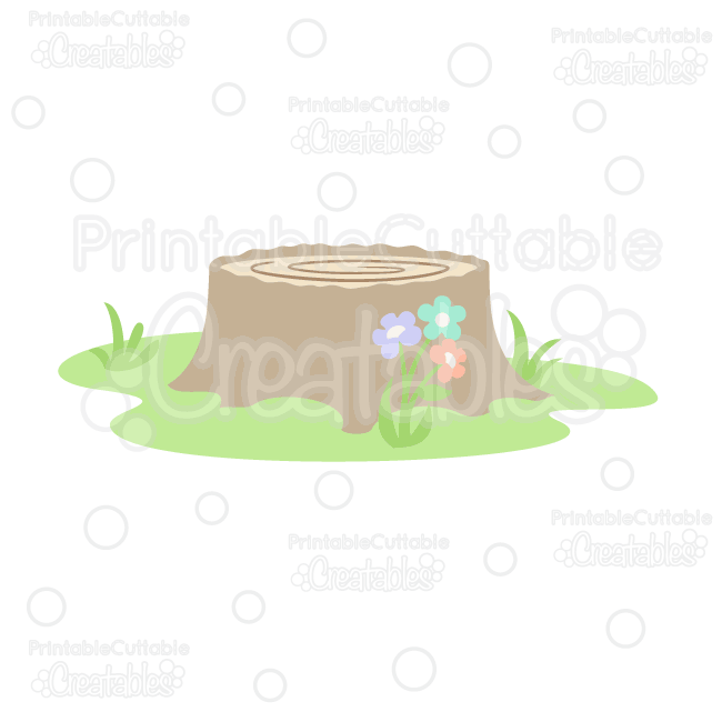 Svg cutting license for clipart freeuse download Woodland Tree Stump FREE SVG Cut File & Clipart | PAPER ... freeuse download