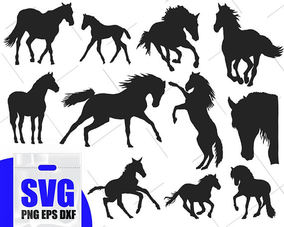 Svg horse clipart jpg library download Horse Svg Bundle, Horses svg, mustang svg, horse clipart ... jpg library download